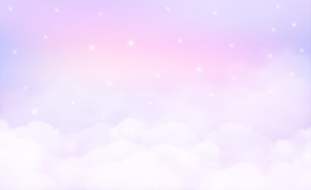 Stars in could sky background and pastel color.