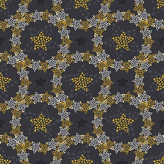 Stars doodle seamless pattern. childish fashion background for textile wrapping or wallpaper