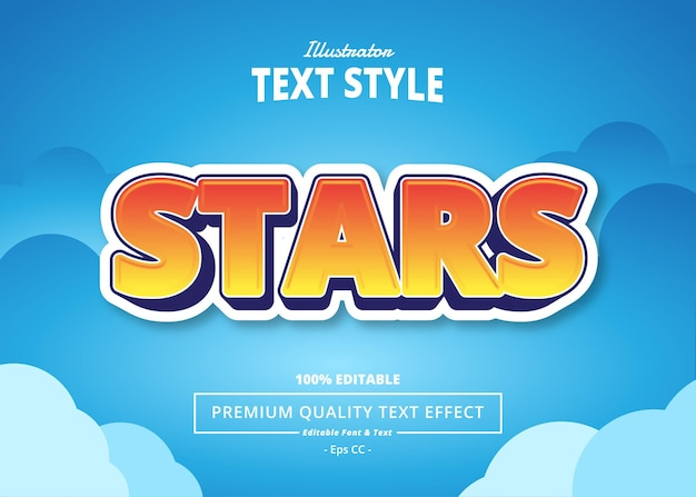 Stars editable text effect