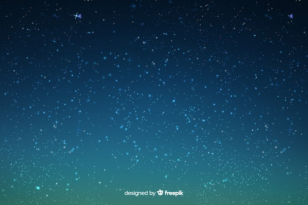 Stars on the gradient sky background