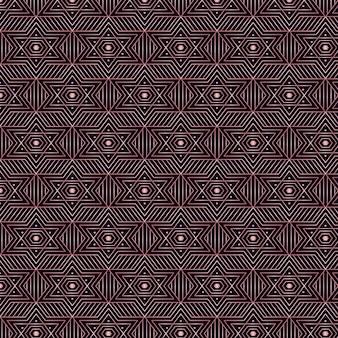アールデコのシームレスパターンの星