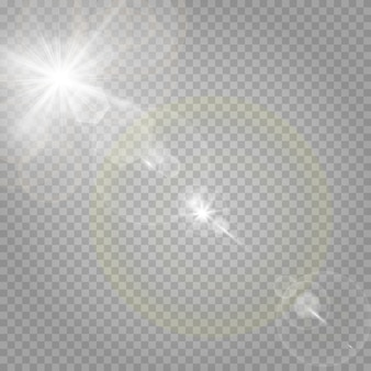 透明な白の星