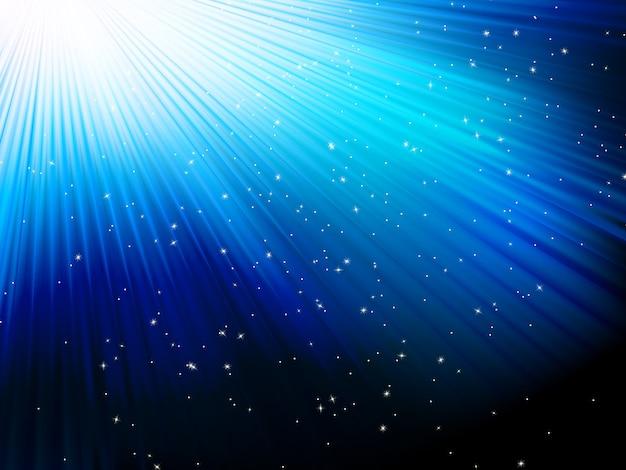 青の縞模様の背景の星。含まれるファイル