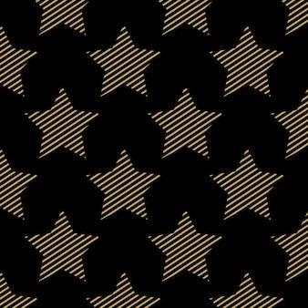 Шаблон звезд, абстрактные геометрические фон. креативный и роскошный стиль иллюстрации