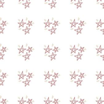 招待状グリーティングカードの誕生日パーティーのポスターの装飾のための星のシームレスなパターン