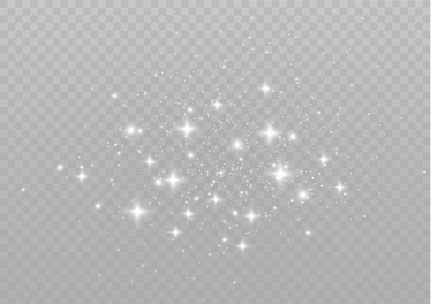 Звезды сияют особым светом сверкающие частицы волшебной пыли