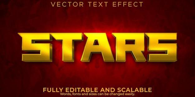 Звездный космический текстовый эффект, редактируемый стиль текста корабля и галактики