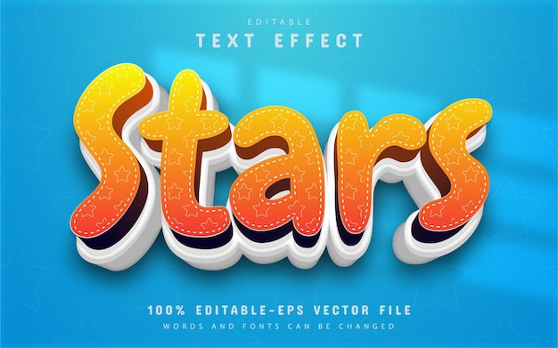 Stars text effect with pattern