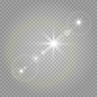 Stars on a transparent white and gray background on a chessboard.