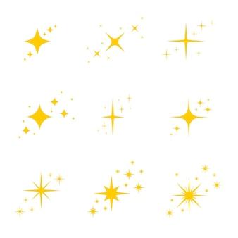 Звезды мерцают и сверкают яркая вспышка ослепляет свет сияющим свечением