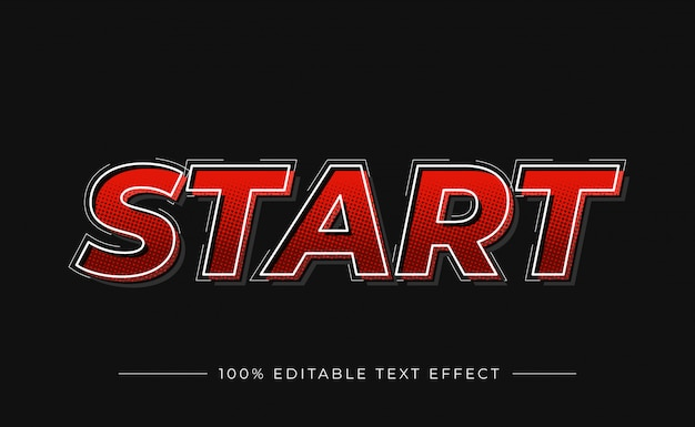 Start 3d text effect with gradient color