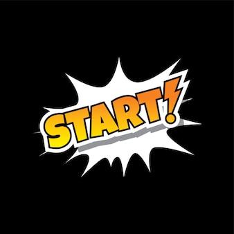 Start comic speech bubble cartoon game assets