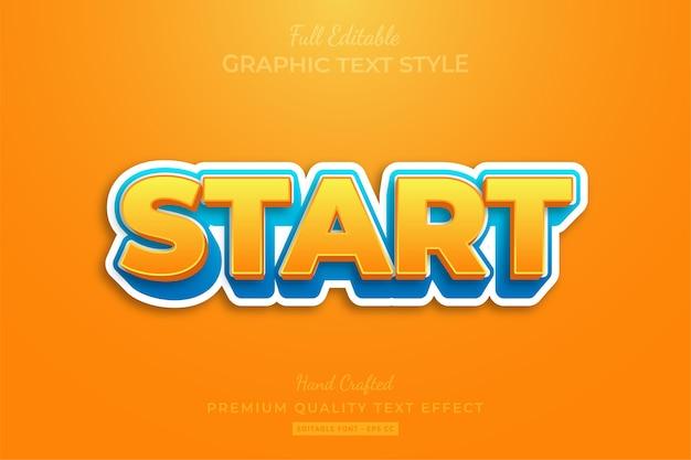 Start editable custom text style effect premium