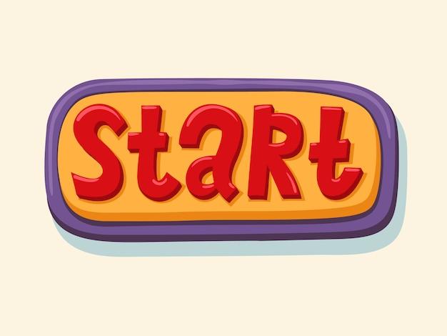 Start. hand drawn web button.