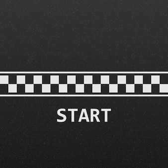 Start line race track