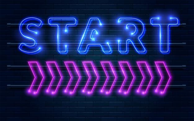 Start neon sign