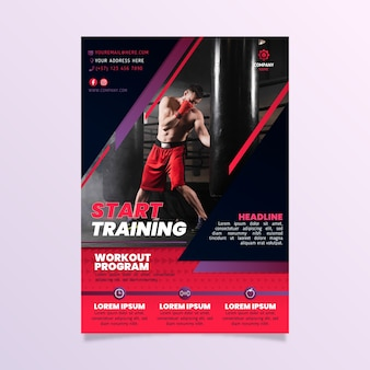 Start training sport poster template