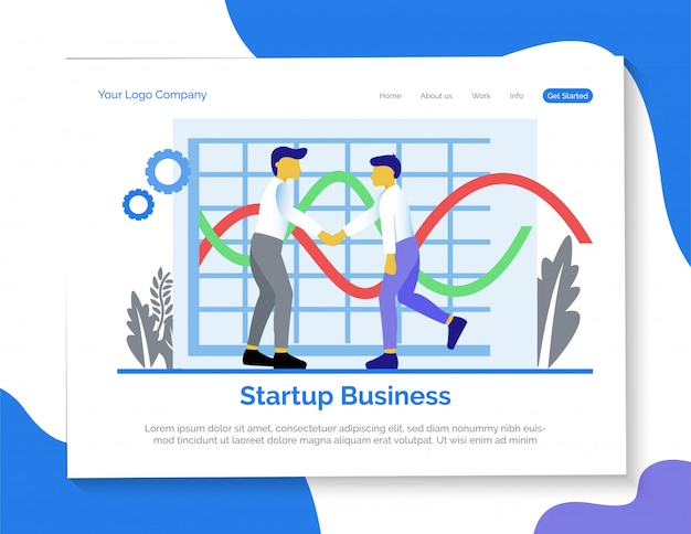 Start up business landing page.