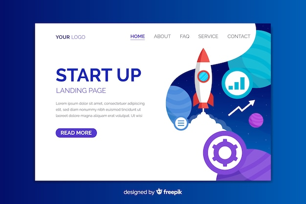 Start up business landing page