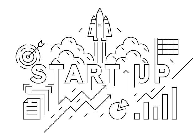 Start up company banner