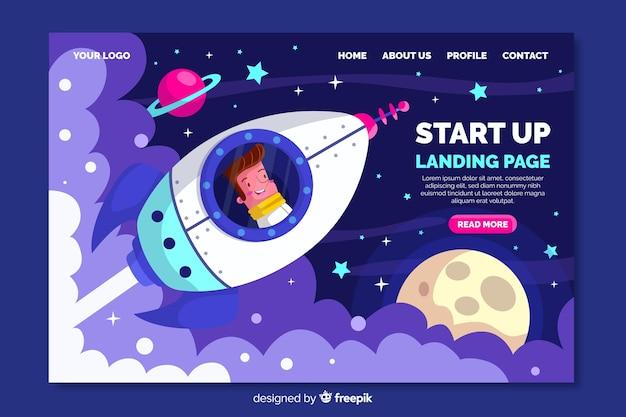 Start up company landing page