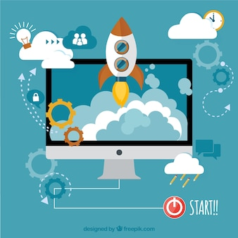 Start-up concept Free Vector