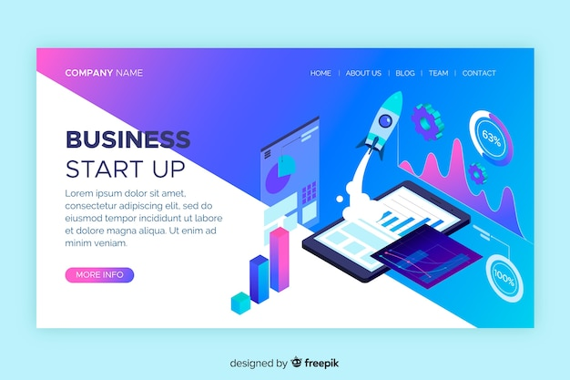Start up digital landing page