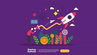 Start up idea concept