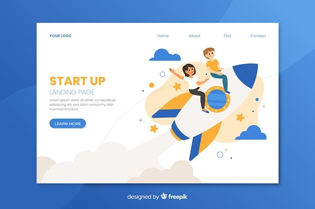 Start up landing page design