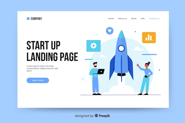 Start up landing page template
