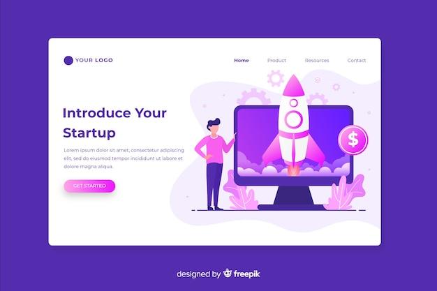 Start up landing page web design