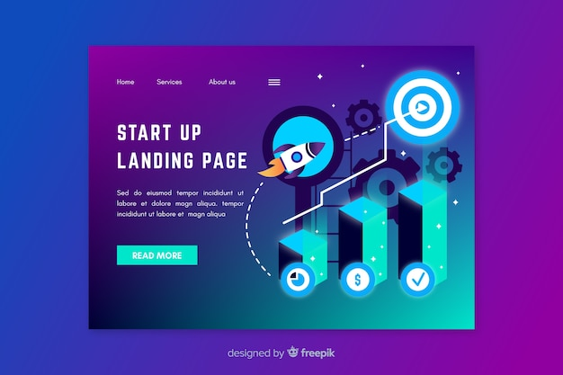 Start up landing page web template