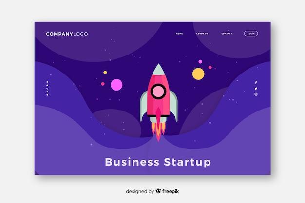 Start-up landing startup landing page