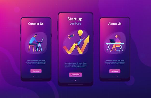 Start up launch app interface template