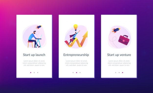 Start up launch app interface template