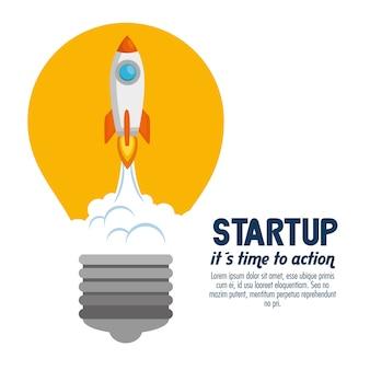 Start up launcher bulb rocket