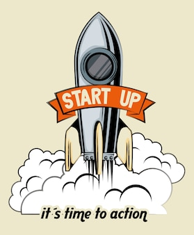 Start up launcher rocket