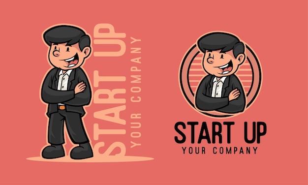Start-up leader mascot logo