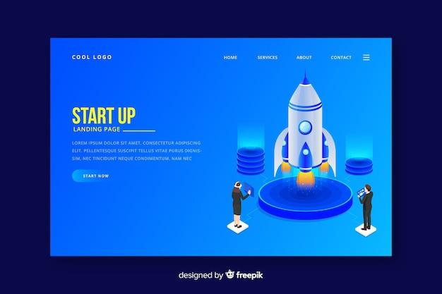 Start-up professional landing page