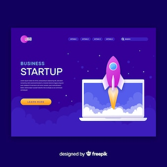 Start up project dark landing page