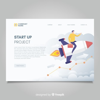 Start up project landing page