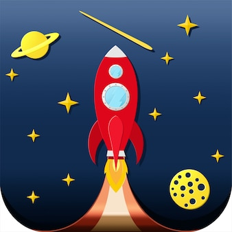 Start up space rocket
