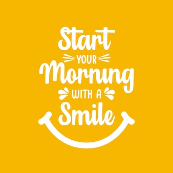 Начните свое утро с шаблона векторного дизайна улыбки.