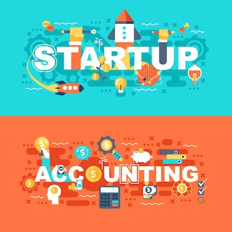 Startup and accounting set of flat concept