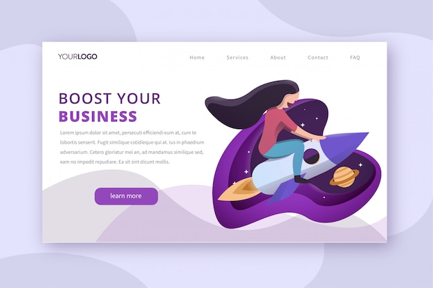 Startup booster landing page