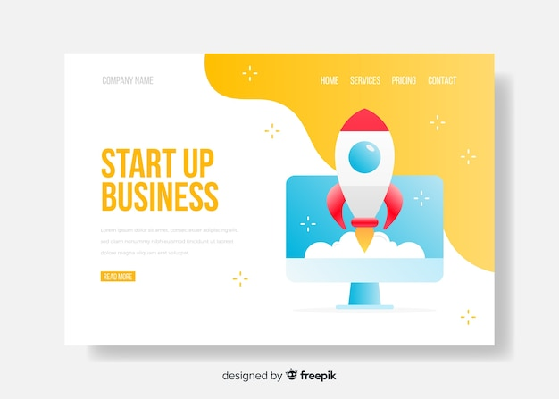 Startup business landing page