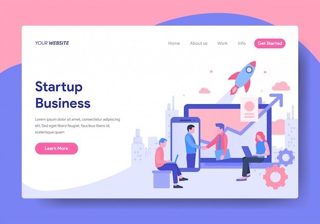 Шаблон целевой страницы startup business