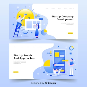 Startup company landing page