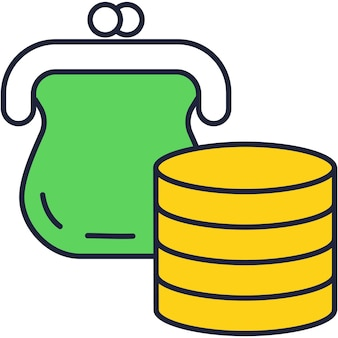 Startup fund and investment flat vector icon