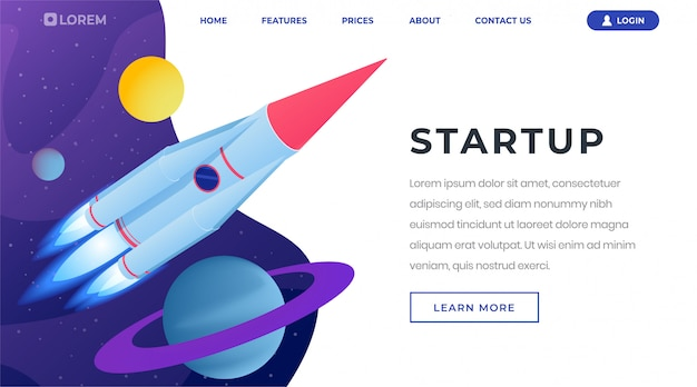 Startup ideas isometric landing page template